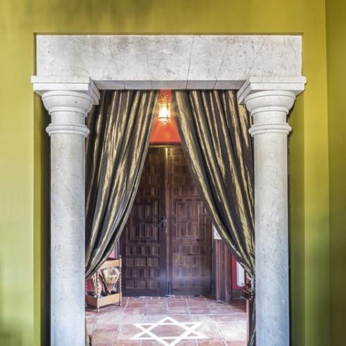 Portico en columnas
